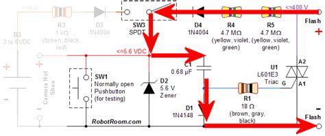flash capacitor charger circuit currently flowing through a safe sync circuit schematic robot room