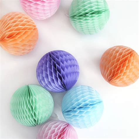 Tissue Paper Balls - tissue paper decoration by blossom