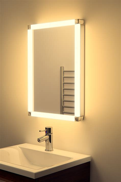 Led Bathroom Mirrors With Demister Chane Led Glow Bathroom Mirror With Sensor Shaver Demister K325 Ebay