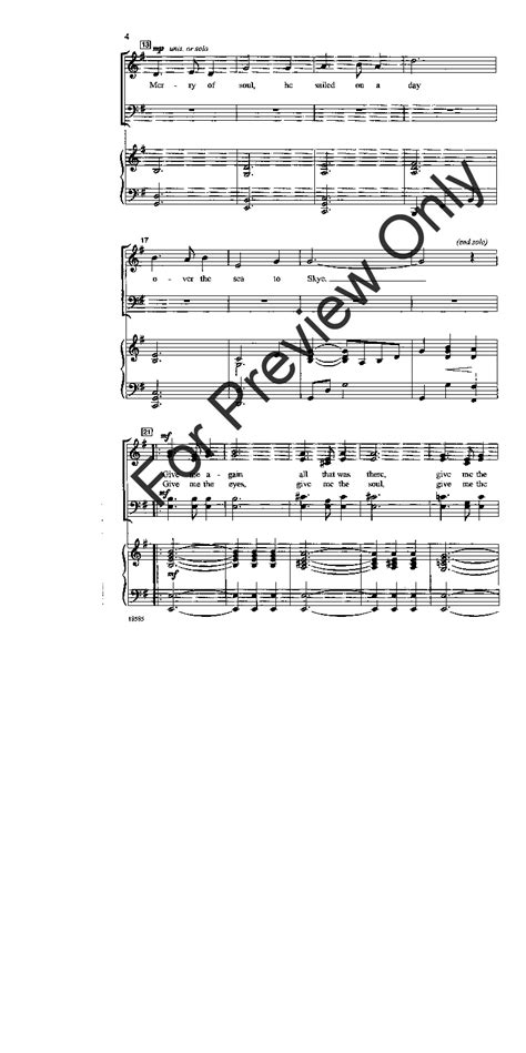 skye boat song jay althouse skye boat song satb arr jay althouse j w pepper