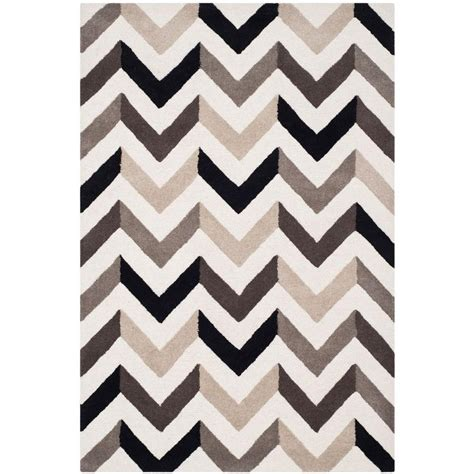 Safavieh Cambridge Black Area Rug Safavieh Cambridge Ivory Black 4 Ft X 6 Ft Area Rug