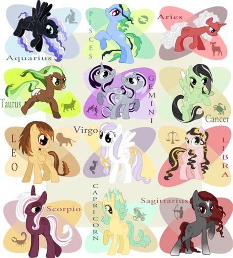 My Little Pony Zodiac | mlpfim western zodiac by redtallin on deviantart