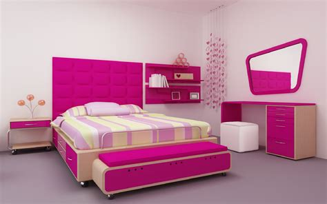 Themed Interior Design by Pink Theme Bedroom Interior Design Wallpapers New Hd