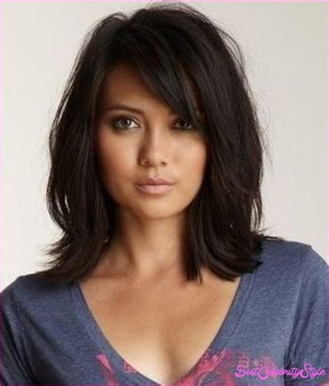 hairstyles with swoop bangs long haircuts with side swept bangs bestcelebritystyle com