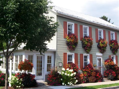 exterior window flower boxes lush landscaping ideas for your front yard landscaping