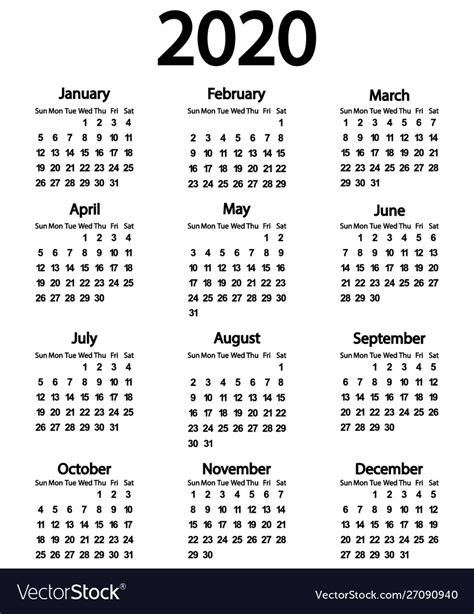 calendar  year   white royalty  vector image