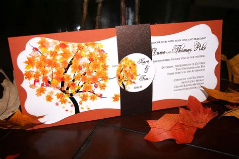Unique Fall Wedding Invitations unique fall wedding invitations chic shab
