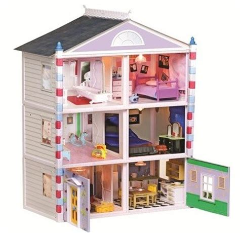build a dolls house kit 3 story build and decorate your own doll house kit with plastic construction includes