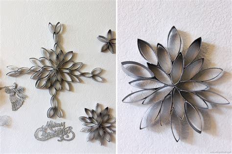 Crafts Made From Toilet Paper Rolls - diy snowflakes out of toilet paper rolls by claudya