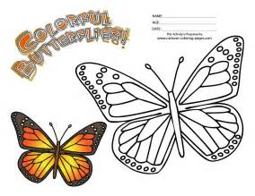 monarch color free butterfly color by number coloring pages