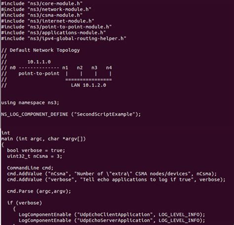 ns3 tutorial second cc 개발자를 꿈꾸는 프로그래머 ns 3 network simulation second cc