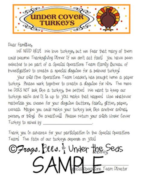 Parent Letter For Thanksgiving Feast Pixie Wonderful Wednesday Crafts Cover Turkeys