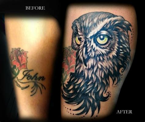 tattoo nightmares owl cover up tattoo nightmares before and after owl www pixshark com