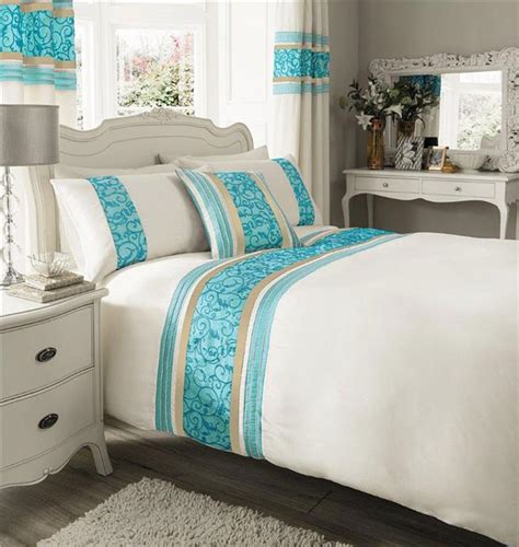 teal bedding sets matching curtains cream teal luxury faux silk bedding king size duvet