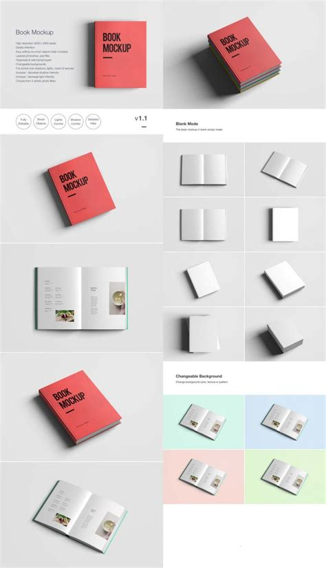 Book For Creative Smart free book psd smart object mockup the creative feed