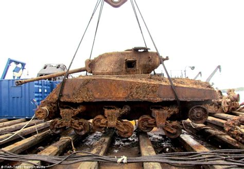 old boat wrecks for sale wwii tank salvaged from wreck of us arctic convoy ship