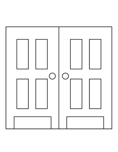 printable door images free close the door coloring pages