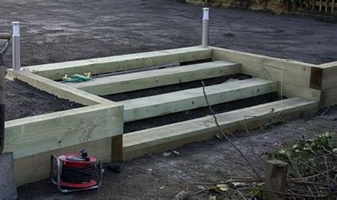 How To Build Steps With Railway Sleepers by Steps And Wall From New Pine Railway Sleepers