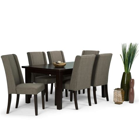simpli home acadian 7 light mocha dining set simpli home sotheby 7 light mocha dining set axcds7sb lml the home depot