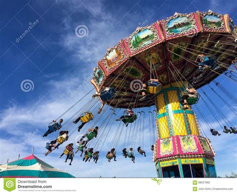 flying swing ride flying swing carnival rides at a local street fair