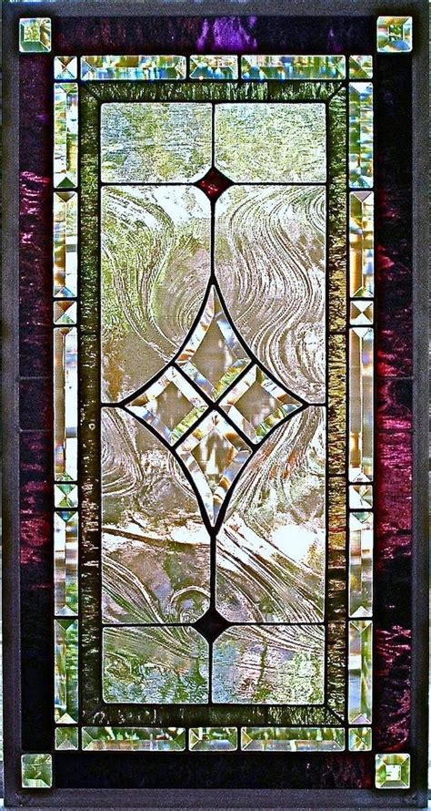 custom made traditional stained glass window panel glass