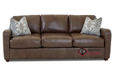 glendale leather sofa by savvy is fully customizable by