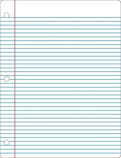 Ruled Paper Clipart Hanslodge Cliparts Golf Notebook Template
