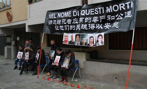 consolato cinese a roma rogo di prato cittadini cinesi manifestano davanti al