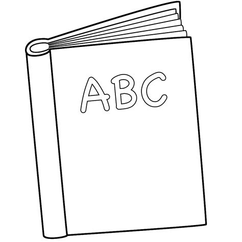Abc Coloring Book 6 best images of printable abc coloring book cover abc