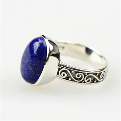 lst genuine 925 sterling silver lapis lazuli ring sterling