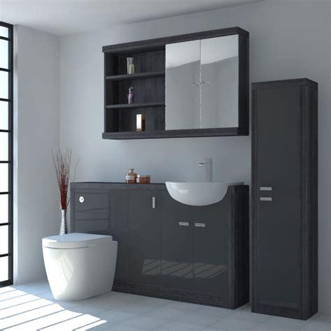 hacienda fitted furniture pack grey buy bathroom city