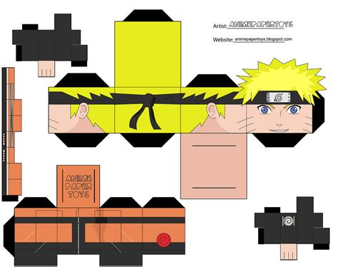Paper Craft Company - papercraft cubee cubeecraft shippuden anime paper t