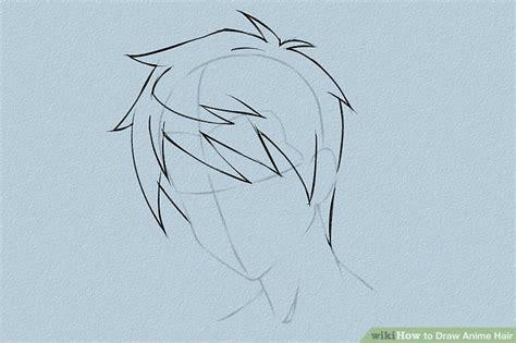 how to draw spiky anime hair 6 ways to draw anime hair wikihow
