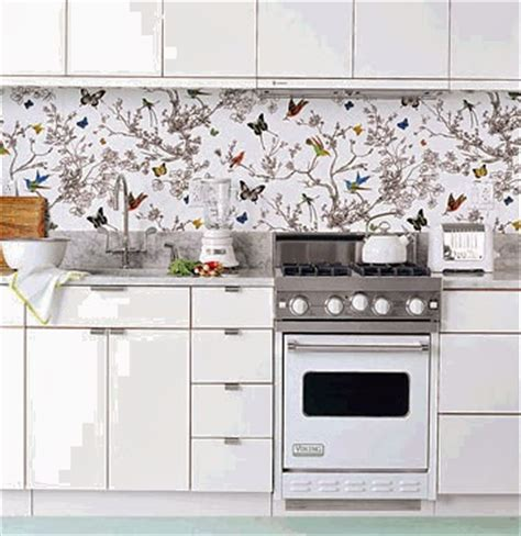 Kitchen Decorating Ideas Vinyl Wallpaper For The Kitchen Kitchen Wallpaper Backsplash