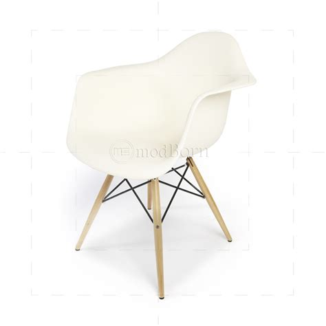 eames style dining daw arm chair white