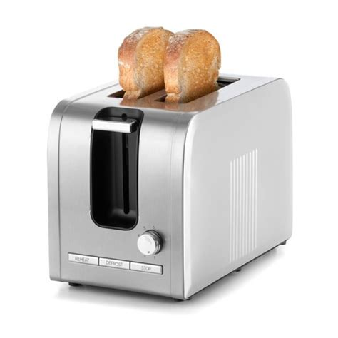 Silver Toaster 2 Slice Stainless Steel Toaster Silver Kmart
