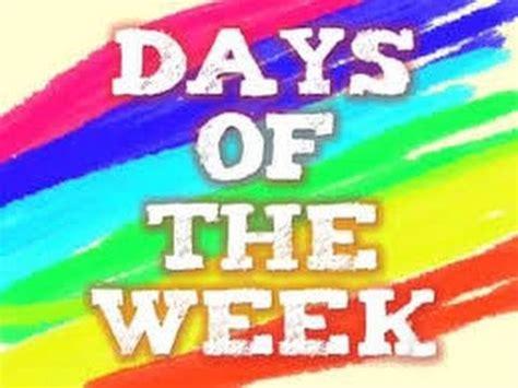 week song anglais pour enfants les jours de la semaine days of