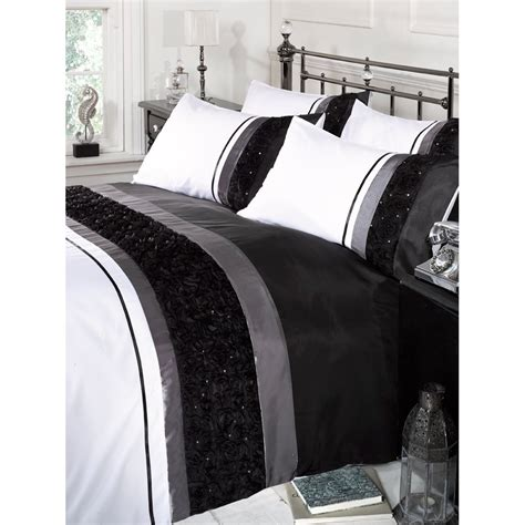 bed linen bali bali colour stripe duvet cover bedding set with sequin