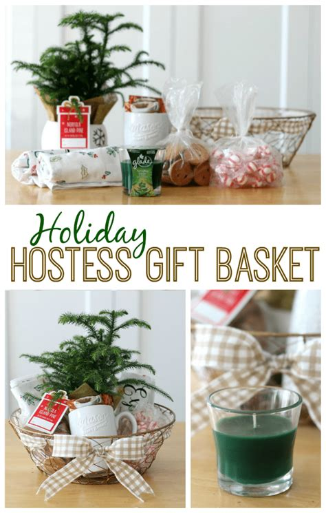 dinner party hostess gift holiday gift basket ideas that would make a great hostess gift