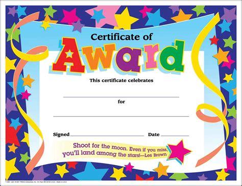 free award template free template of award certificate valid certificate
