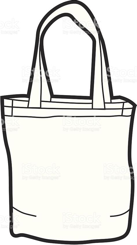 White Bag Clip Premium canvas tote bag stock vector more images of bag