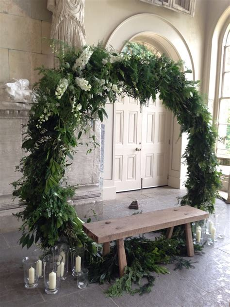 20 Creative Greenery Wedding Arches with Garland ? Hi Miss