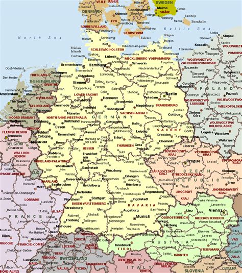 large map of germany maps of germany map library maps of the world