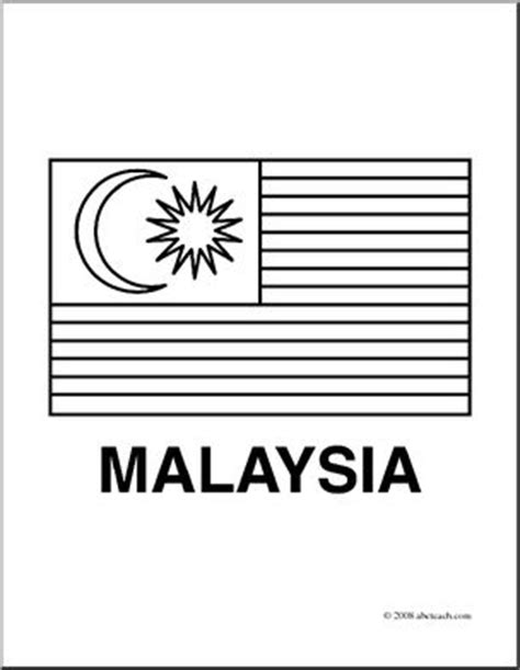 clip art flags malaysia coloring page i abcteach com