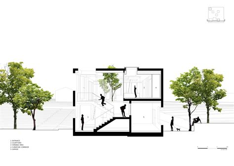 section studio gallery of 9x9 experimental house younghanchung
