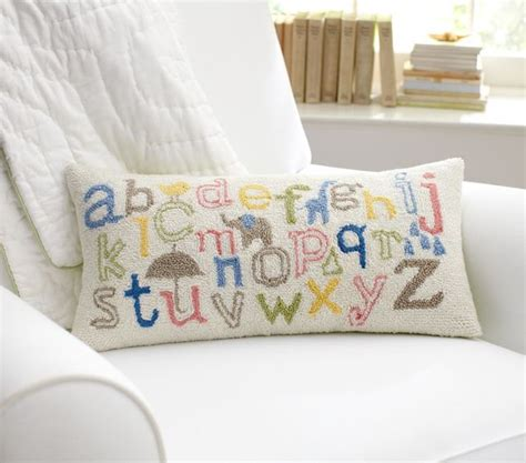 Nursery Decorative Pillows Abc Decorative Pillow Contemporary Nursery Decor By Pottery Barn