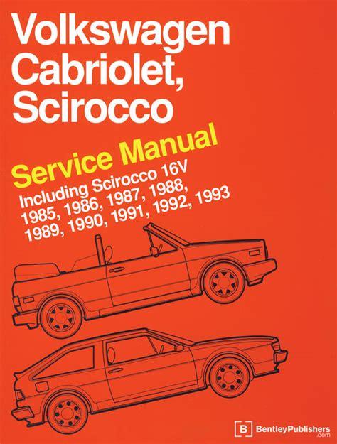 car maintenance manuals 1985 volkswagen scirocco free book repair manuals book bentley scirocco cabrio 16v 85 93 doghouse repair