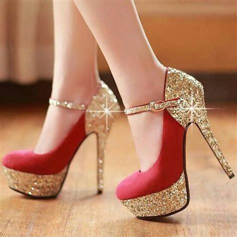 Wedges Glitter Dubai Emas Manis Cantik High Heel Tips Tips For Wearing High Heels Road2beauty