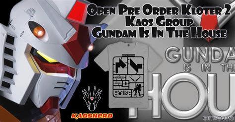 Kaos Gundam Rx 78 2 gundam is in the house home
