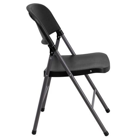 Black Plastic Folding Chairs by Hercules Series 330 Lb Capacity Black Plastic Folding
